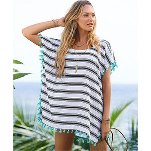 Striped Poncho Cover-up - $16 with FREE Shipping!